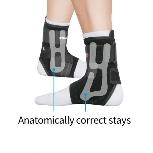Precisely fit stays aligned with ankle shape