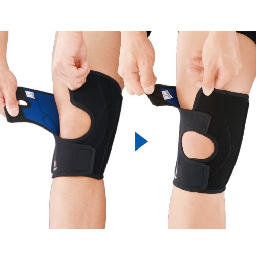 Precise fit to the knee and adjustable compression level