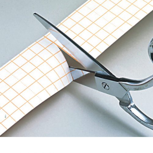 Paper liner with a grid pattern makes easy to cu