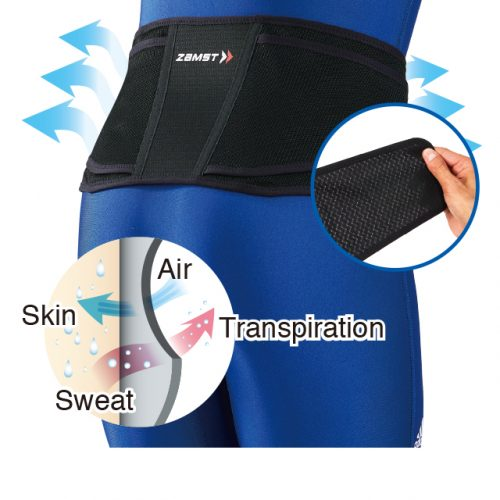 Rapid evaporation of sweat