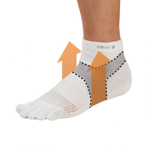 Arch lift to support plantar function