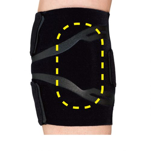 Compression pads and film lines compress calf