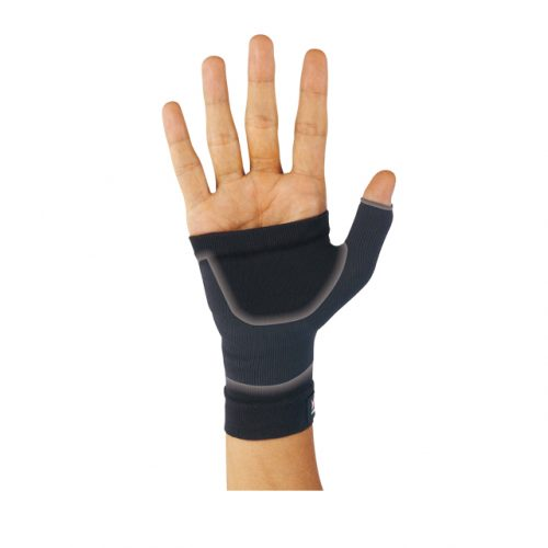 For light compression and protection of the wrist to palm