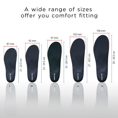 Wide range of sizes