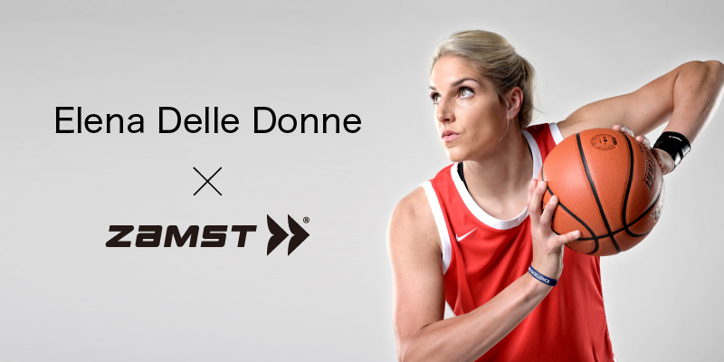 Zamst announces sponsorship with Elena Delle Donne, an American female pro basketball player