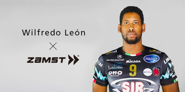 Zamst announces sponsorship with Wilfredo León,men's professional volleyball player